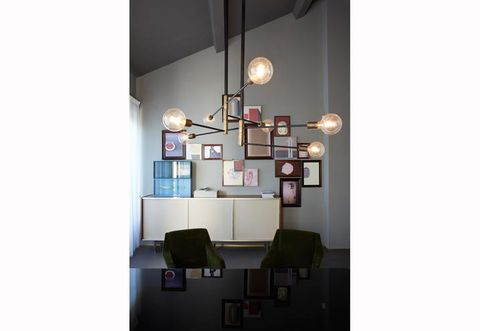 Lighting, Interior design, Room, Wall, Light fixture, Lampshade, Lighting accessory, Interior design, Lamp, Ceiling,