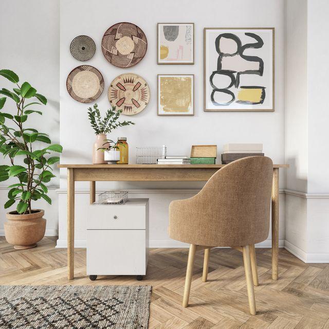 bohemian home office interior   3d render