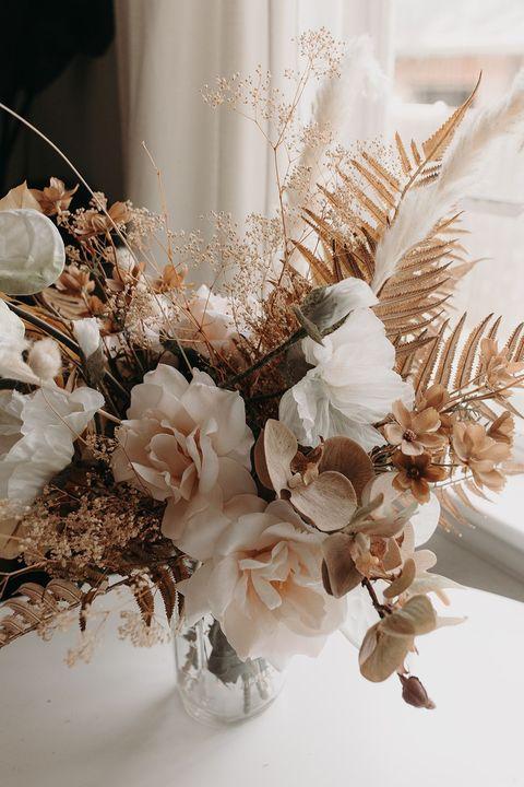 boho silk flower fall wedding bouquets