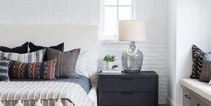 Dormitorio boho y costero
