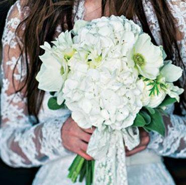 6月の花嫁に贈るアジサイブーケ