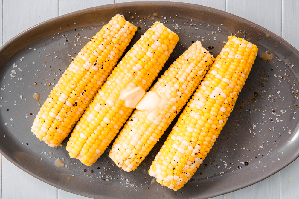 Best and quickest way to cook corn on the cob inside