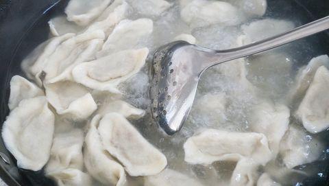 boiled dumplings  chinese  food