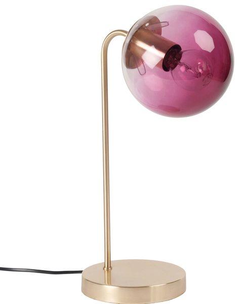 Lámpara de sobremesa cristal rosa, de Maisons du Monde