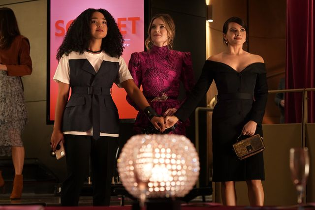 """the bold type in the final season of """"the bold type,"""" our trio is on the brink of defining who they really are and how to best leave their mark on the world their futures are bright, and their love and support of each other will never change freeformjonathan wenkaisha dee, meghann fahy, katie stevens"""
