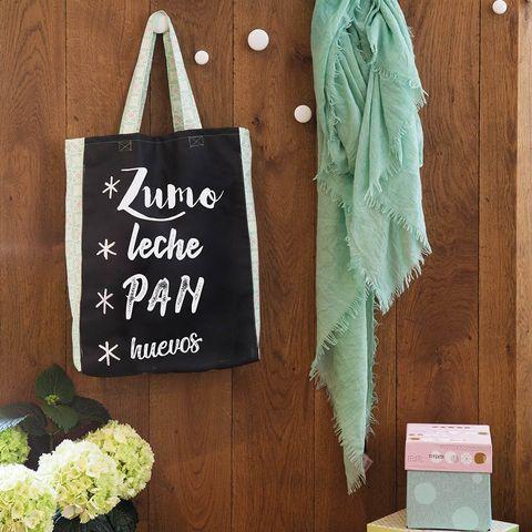 Bolsa de tela para la compra con tela de tiza