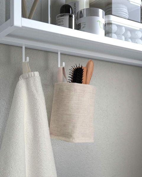 bolsa de tela para colgar en el baño de almacenaje