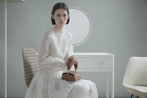 White, Room, Dress, Linens, Gown, Mirror, Wedding dress, One-piece garment, Day dress, Chest of drawers,