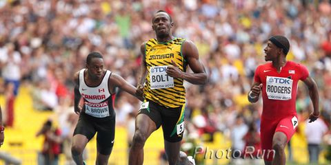 Usain Bolt in the 100 meters at the 2013 world championships