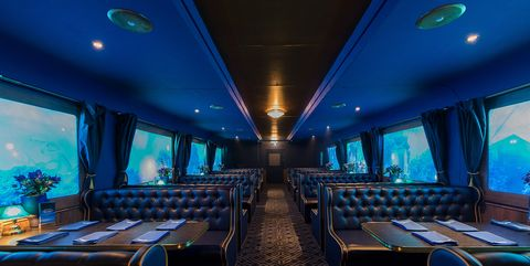 Blue gin train comes to London