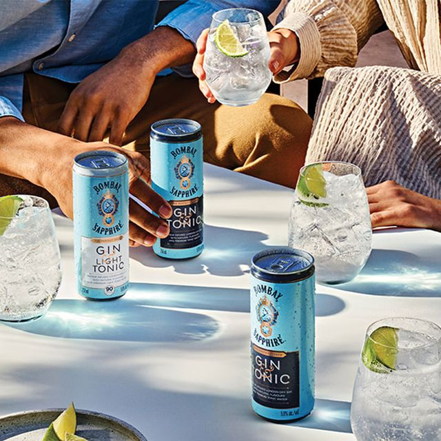bombay sapphire ready to drink gin and tonic cans
