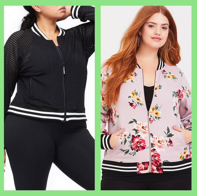0b0a86d8a 15 Best Plus Size Bomber Jackets for Women 2019