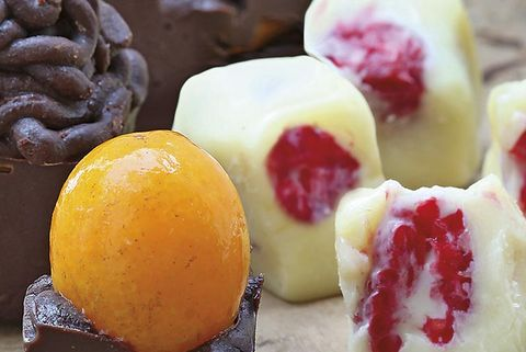 bombones con frutas
