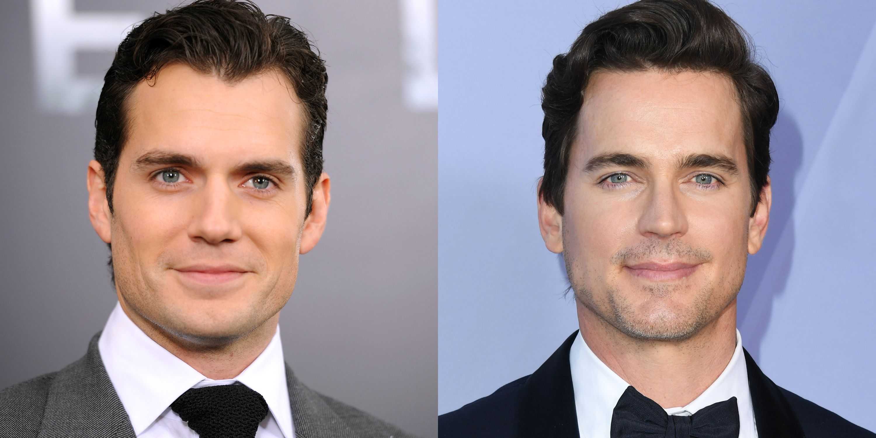 Henry Cavill and Matt Bomer These too heartthrobs are so similar-looking that they often are considered for the same roles. Bomer shared that he'd initially been cast for the iconic role of the Man of Steel until Cavill swept in.