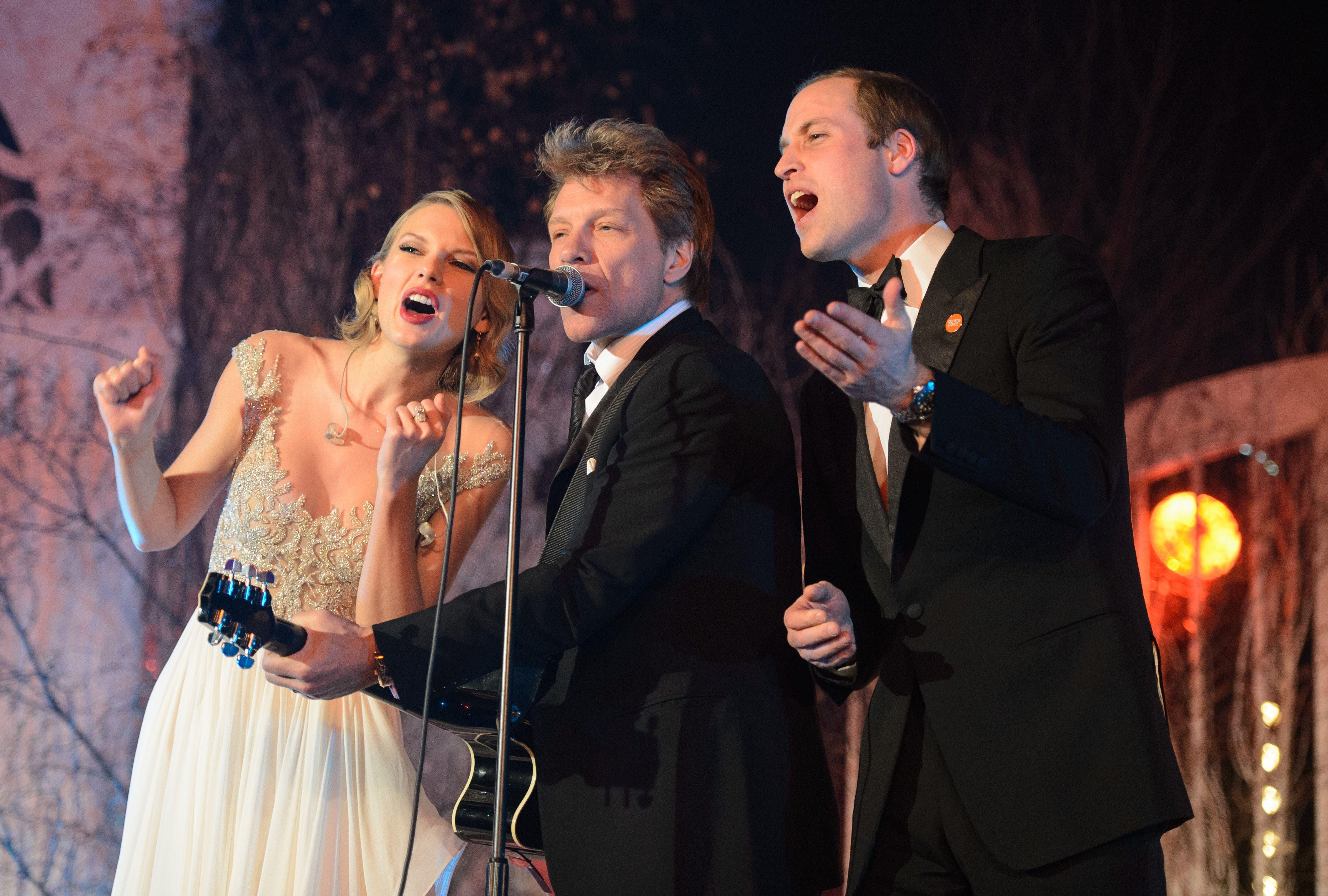 Prince William, Bon Jovi,Taylor Swift