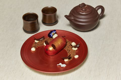 Food, Cuisine, Tableware, Dish, Chocolate, Serveware, earthenware, Platter, Tea set, Metal,