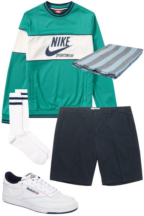 Clothing, Sportswear, Sports uniform, Jersey, Green, board short, Shorts, Sleeve, Uniform, Footwear,