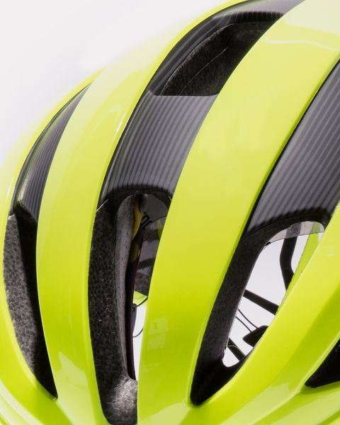 Helmet, Clothing, Bicycle helmet, Yellow, Personal protective equipment, Bicycles--Equipment and supplies, Sports equipment, Headgear, Bicycle clothing,
