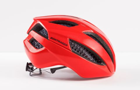 Helmet, Personal protective equipment, Bicycle helmet, Red, Headgear, Automotive design, Motorcycle accessories, Sports equipment, Sports gear, Bicycles--Equipment and supplies,