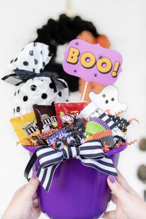 candy boo basket spooky basket ideas