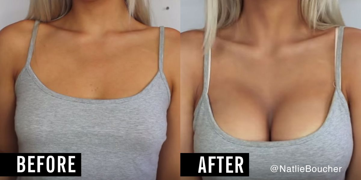 How To Contour Boobs - Make Breasts Look Bigger With Makeup-4226