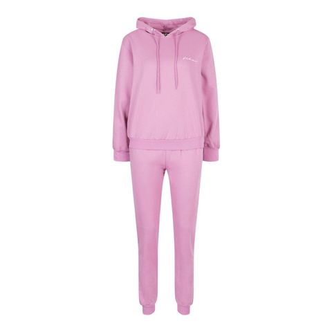 boohoo side stripe woman embroidery tracksuit
