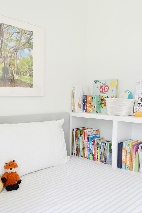 bed frame bookshelf