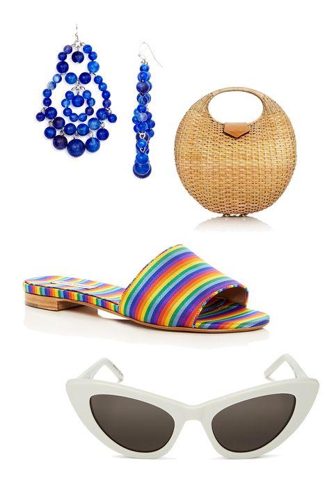 Eyewear, Sunglasses, Glasses, Personal protective equipment, Footwear, Goggles, Vision care, Swimwear, Bikini, Costume accessory,
