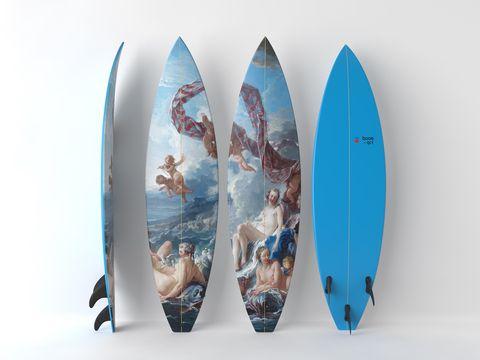 Tavole da surf con opere d'arte, Boom-art & UWL -Francois BoucherIl Trionfo di Venere