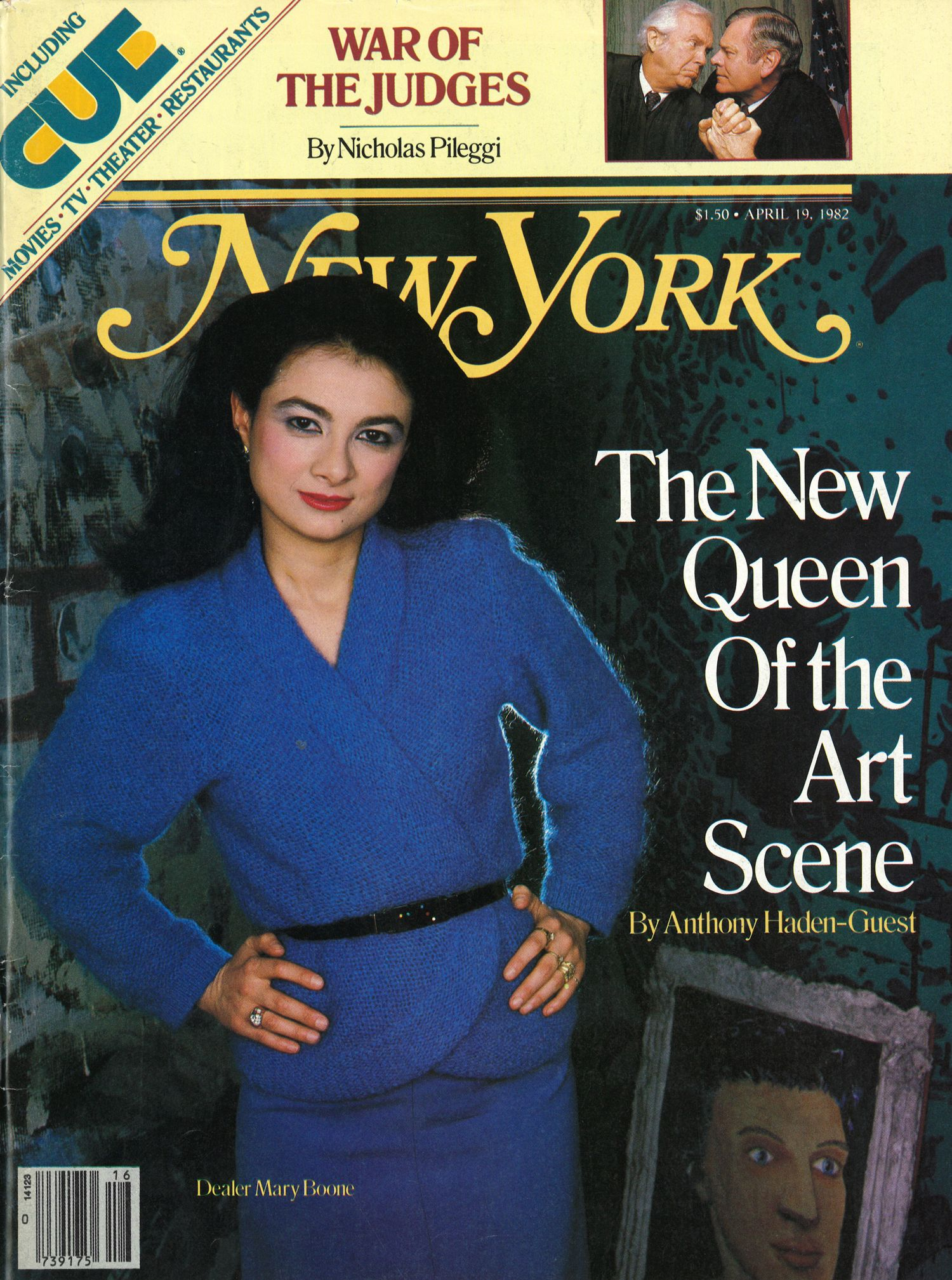 Mary Boone on a April 1982 cover of New York Magazine.
