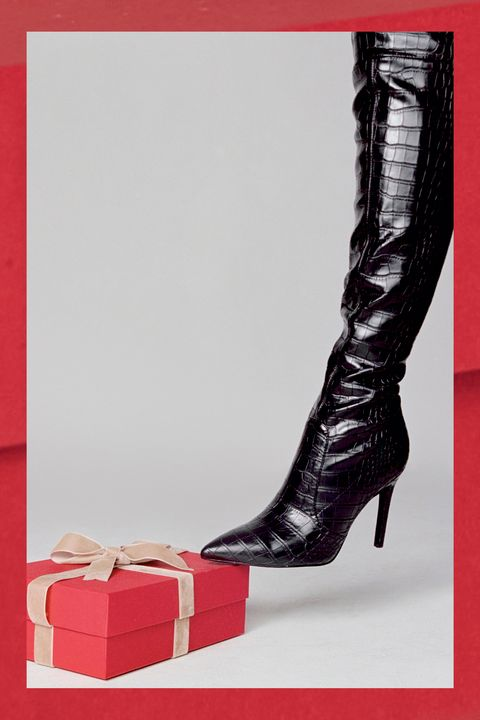 bonis croc stiletto over the knee boots