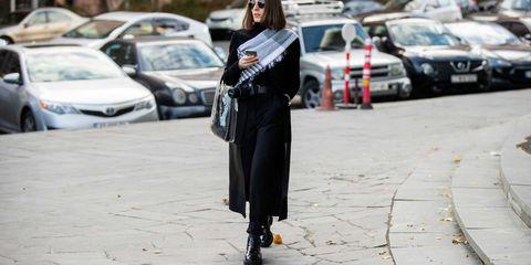 Street fashion, Clothing, Fashion, Outerwear, Footwear, Headgear, Street, Vehicle, Photography, Coat,
