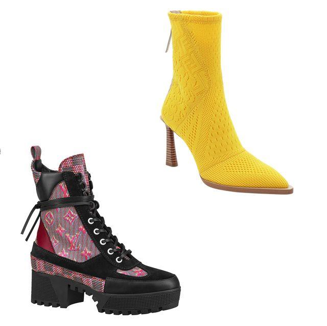 Footwear, Shoe, Boot, High heels, Pink, Magenta,