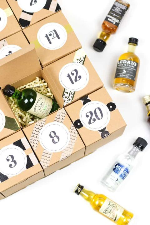 diy advent calendars booze