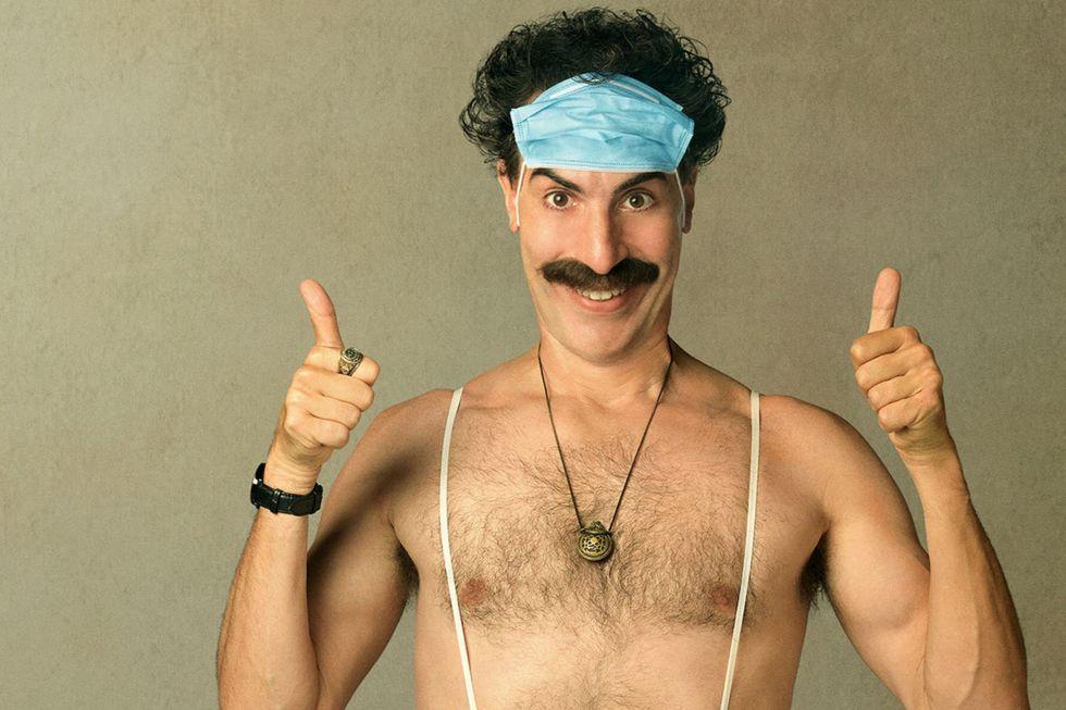 Sacha Baron Cohen Proves Borat Is Still Our Greatest Troll