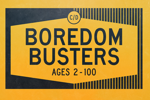 Boredom Busters Magazine Cover Coloring Project