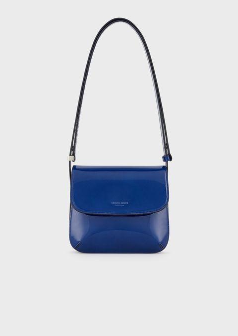 Handbag, Bag, Cobalt blue, Blue, Electric blue, Shoulder bag, Fashion accessory, Product, Azure, Leather,