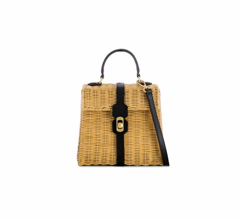Bag, Handbag, Brown, Yellow, Beige, Tan, Fashion accessory, Birkin bag, Leather, Rectangle,