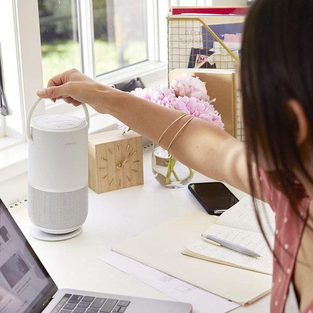 bose speaker on desk