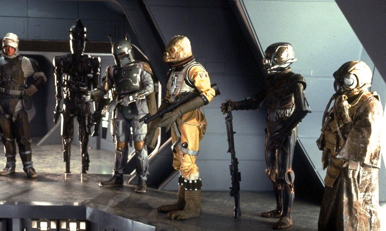 The Mandalorian serie personaje - Cazarrecompensas trilogía original Star Wars IG-88