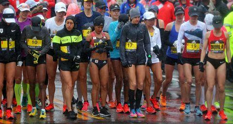 Boston Marathon women start