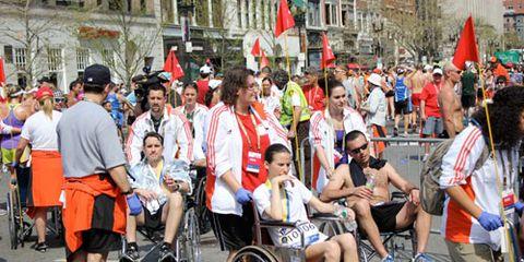 Medical Aid at the Boston Marathon Finish