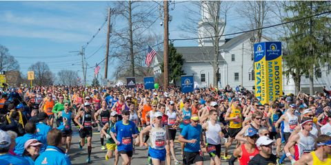 Flood of Runners From Hopkinton