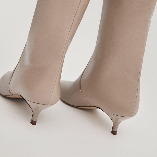 botas altas de tacón mini de massimo dutti