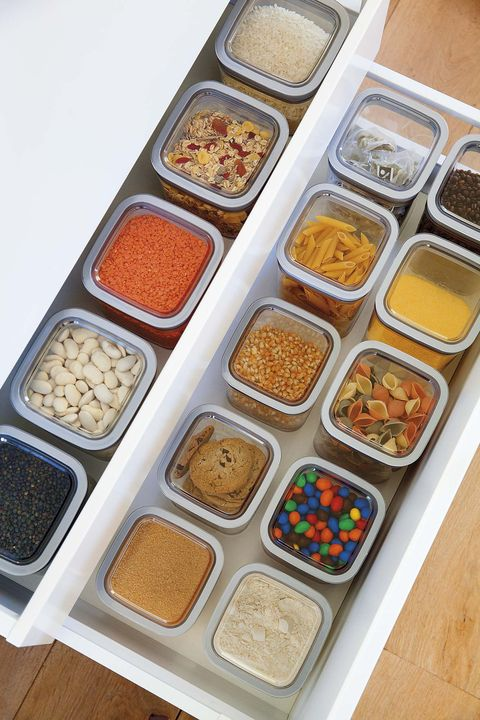 orden en la cocina botes trasparentes para alimentos