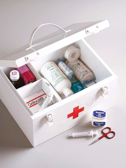 Product, Shelf, Furniture, Material property, Box, Medicine, First aid kit, Packaging and labeling,