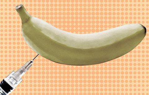 Banana, Banana family, Plant, Fruit, Cooking plantain, Neck, Food, Produce,