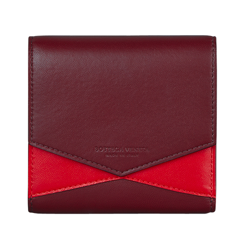 Red, Wallet, Leather, Coin purse, Fashion accessory, Maroon, Material property, Rectangle,