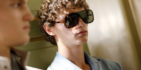 Eyewear, Sunglasses, Hair, Glasses, Cool, Chin, Hairstyle, Vision care, Goggles, Human,