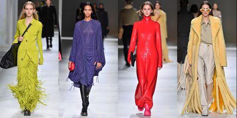Fashion model, Fashion, Clothing, Fashion show, Runway, Haute couture, Pink, Footwear, Outerwear, Fashion design,